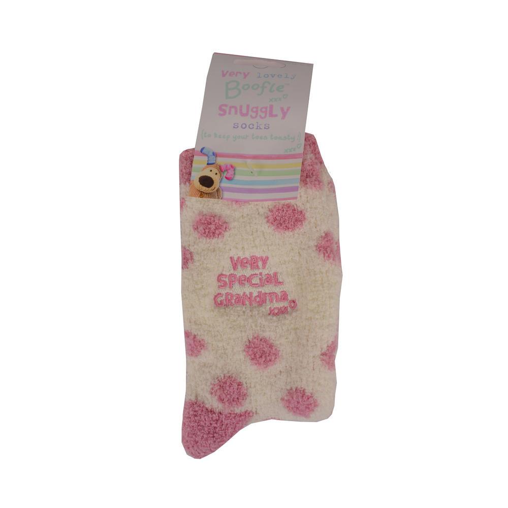 Boofle Special Grandma Pair Fluffy Slipper Socks