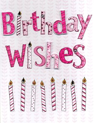 Birthday Wishes Gigantic Greeting Card