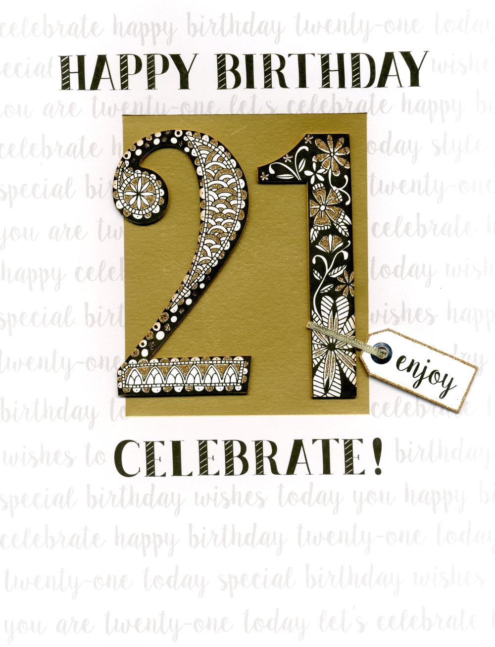 21st Birthday Gigantic Greeting Card