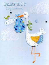 Baby Boy Congratulations Gigantic Greeting Card