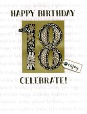 18th Birthday Gigantic Greeting Card