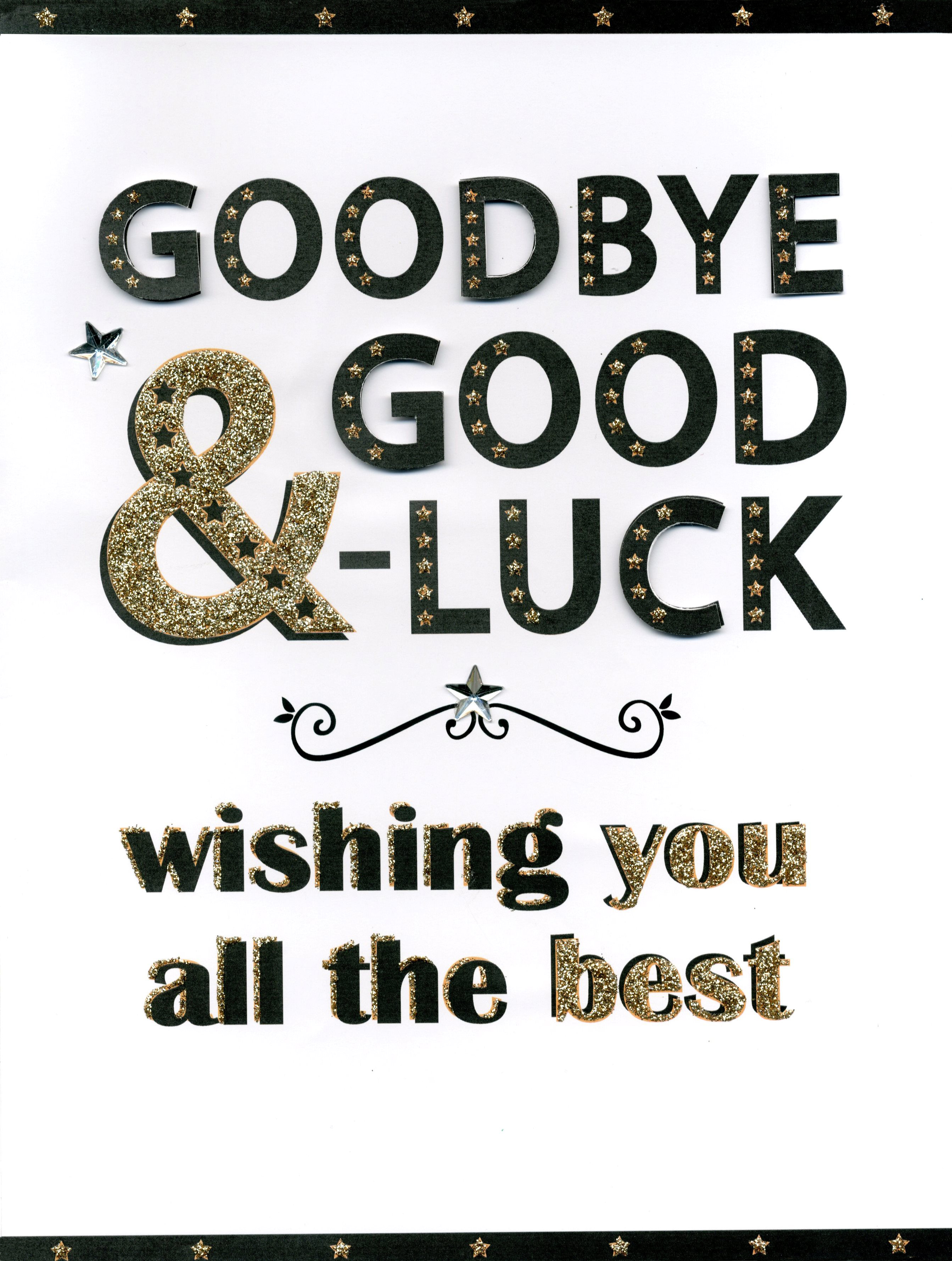 Goodbye Good Luck Gigantic Greeting Card