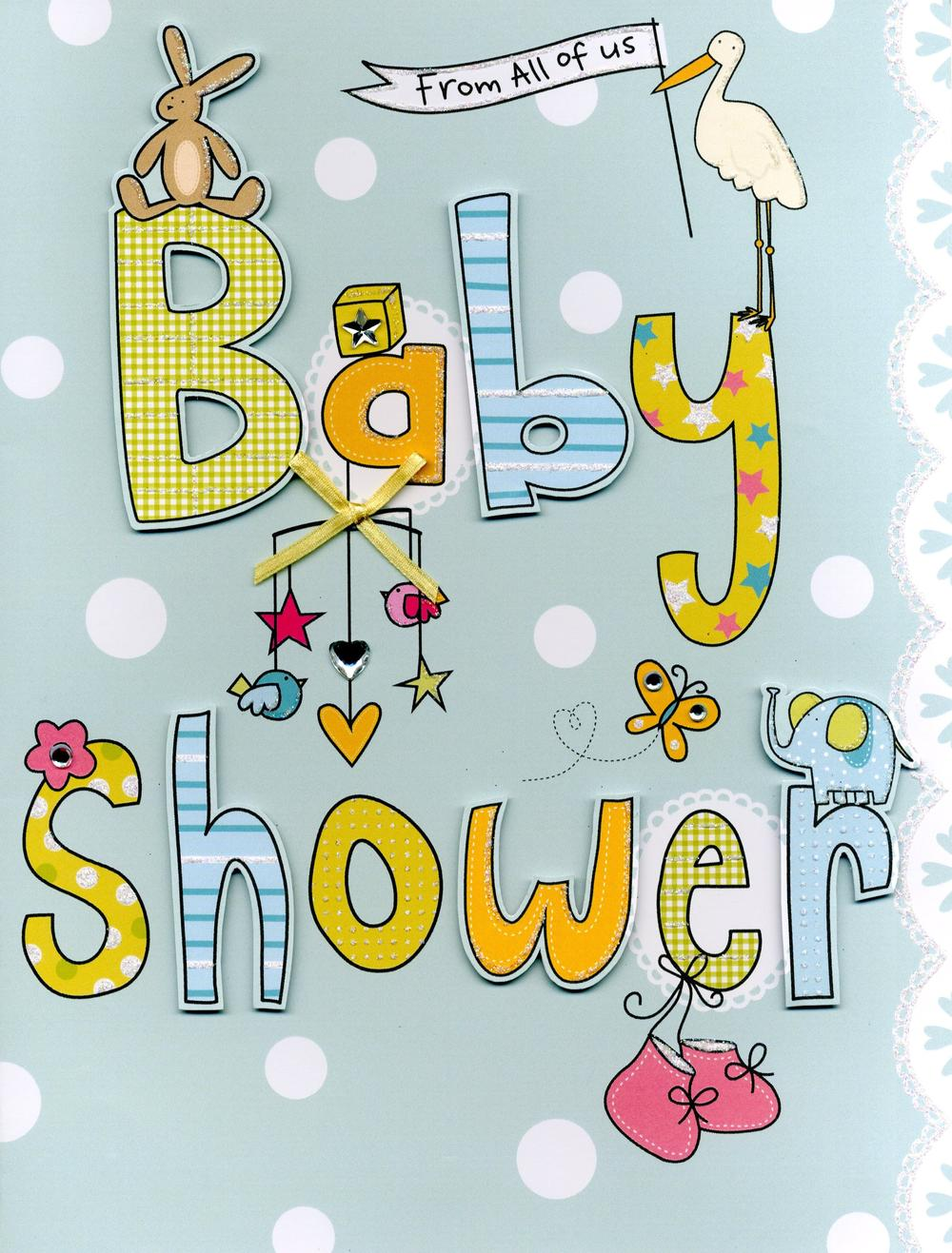 Baby Shower From All Of Us Gigantic Greeting Card