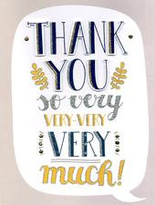 Thank You Gigantic Greeting Card