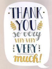 Thank You Gigantic Greeting Card