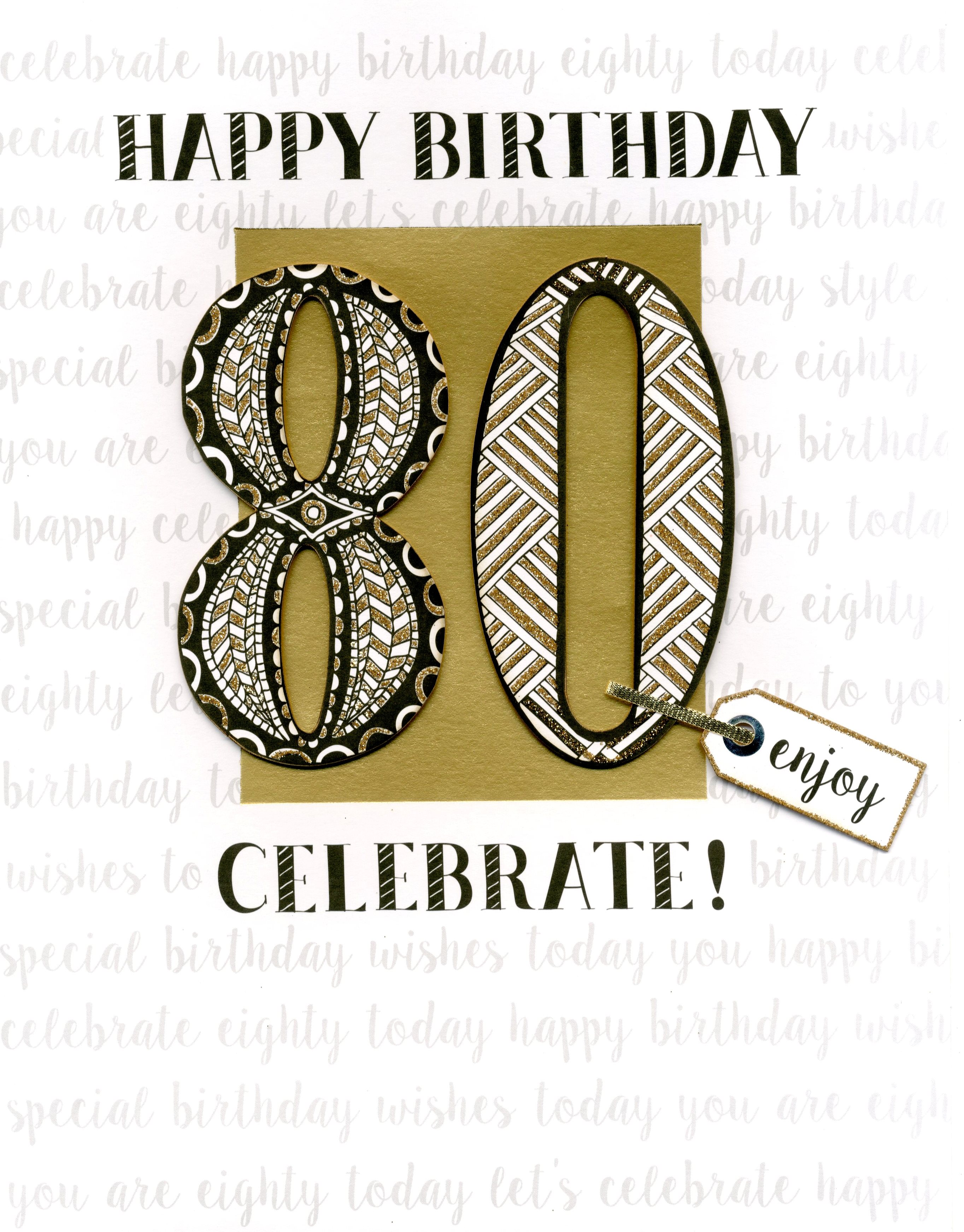 80th Birthday Gigantic Greeting Card