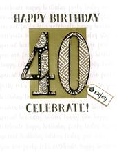 40th Birthday Gigantic Greeting Card
