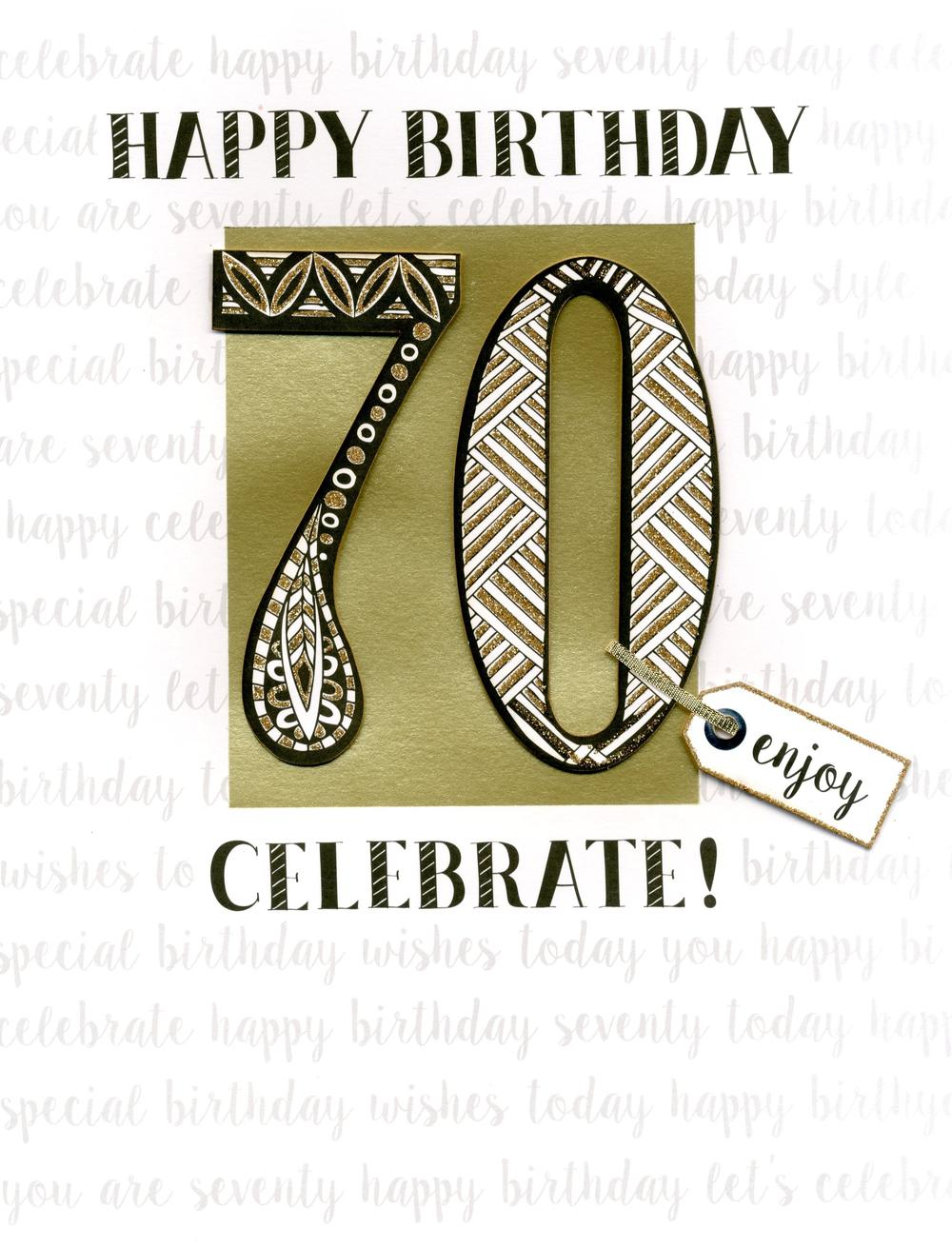 70th Birthday Gigantic Greeting Card