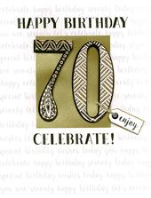 70th Birthday Gigantic Greeting Card