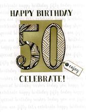 50th Birthday Gigantic Greeting Card