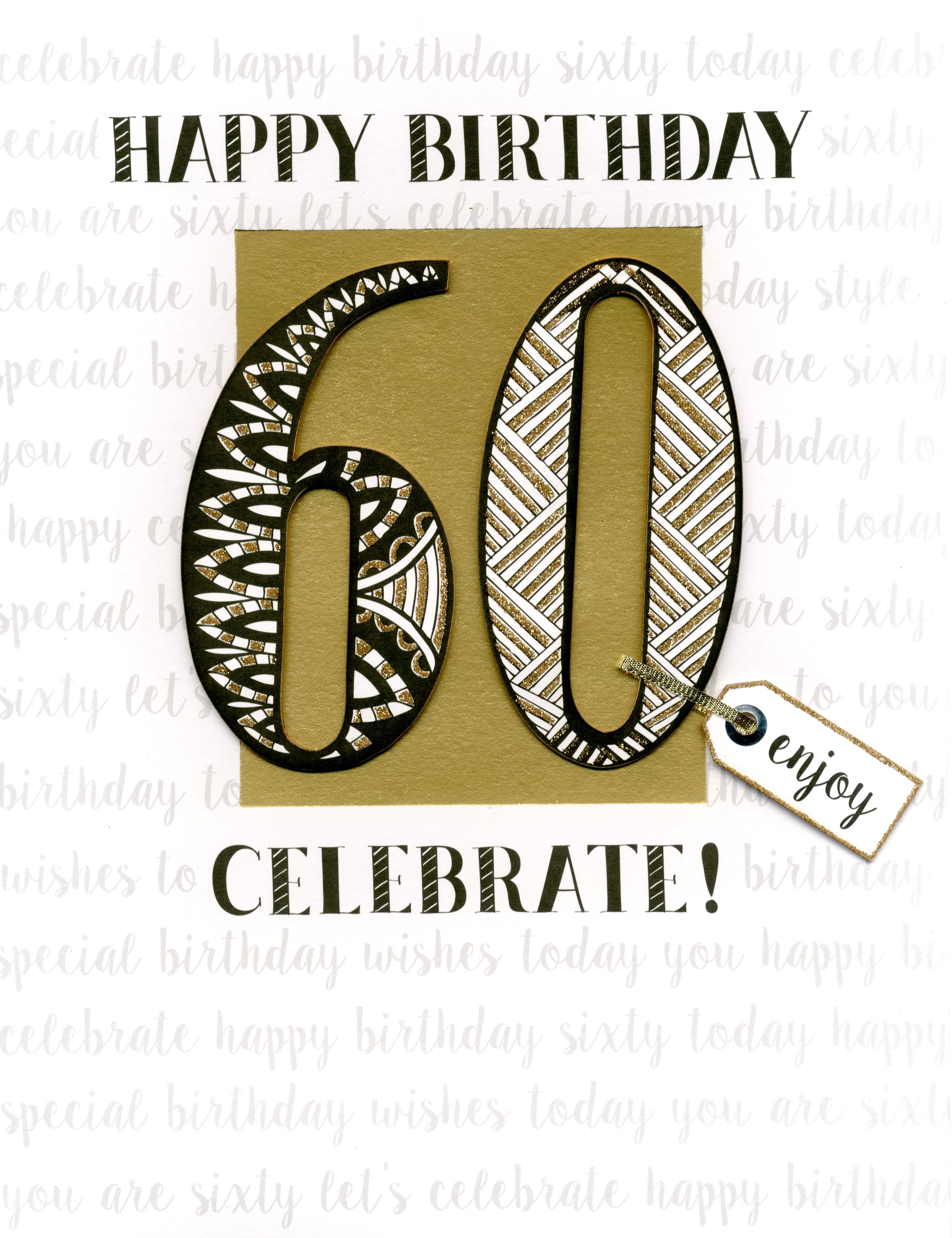 60th Birthday Gigantic Greeting Card