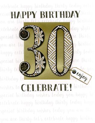 30th Birthday Gigantic Greeting Card