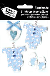 Blue Baby Boy DIY Greeting Card Toppers