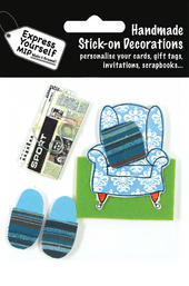 Slippers & Armchair DIY Greeting Card Toppers
