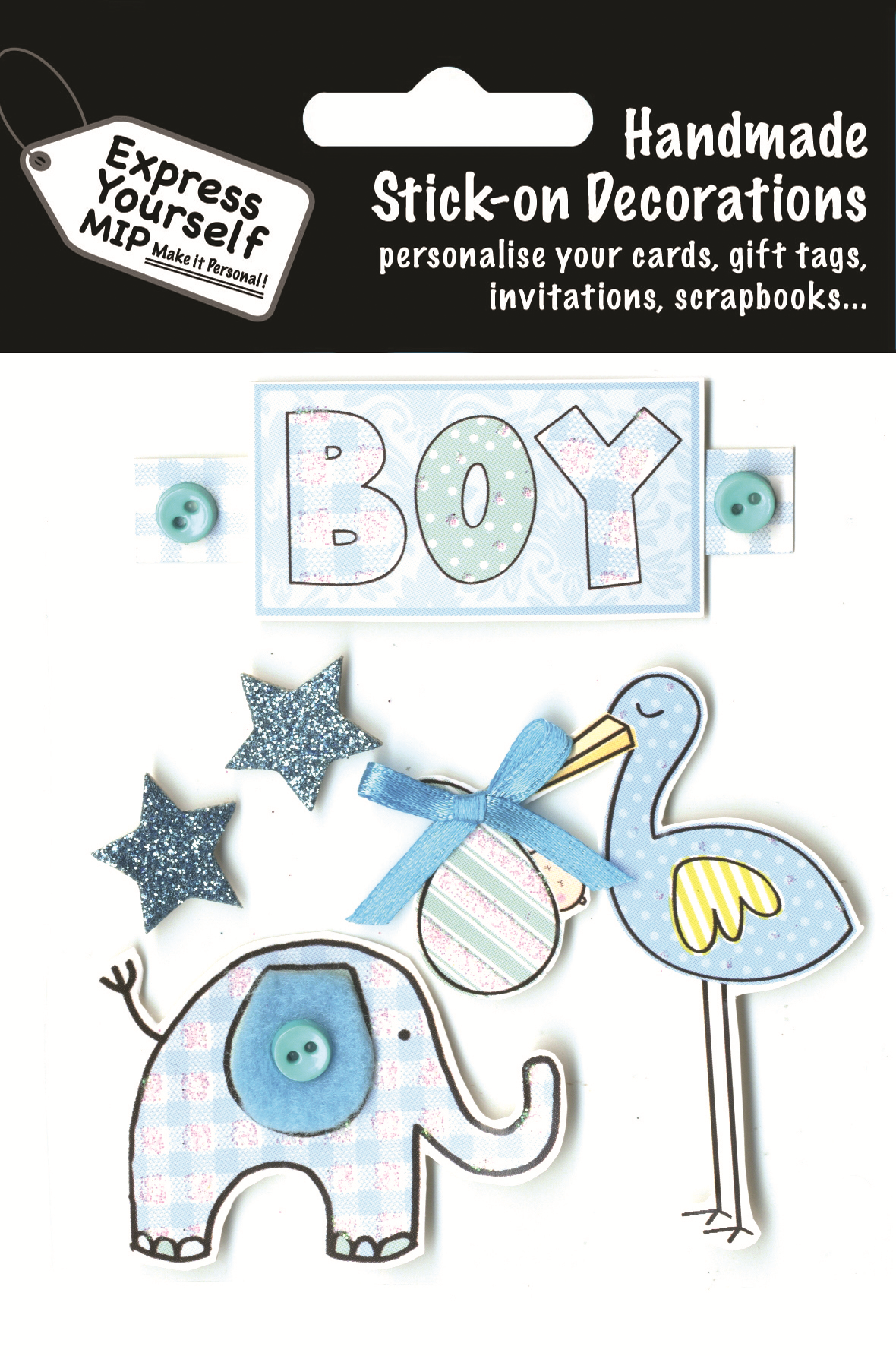 Blue baby boy diy greeting card toppers gift accessories love kates blue baby boy diy greeting card toppers m4hsunfo