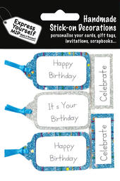 Birthday Tags & Banners DIY Greeting Card Toppers