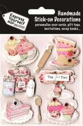 Pink Tea For Two DIY Greeting Card Toppers