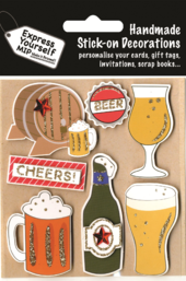 Cheers Beer Themed DIY Greeting Card Toppers