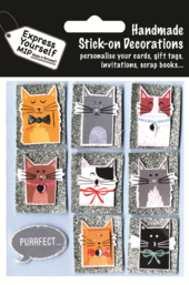 Cats Cat Themed DIY Greeting Card Toppers