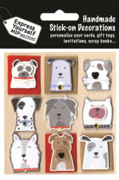Dogs Dog Themed DIY Greeting Card Toppers