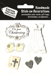 On Your Christening DIY Greeting Card Toppers