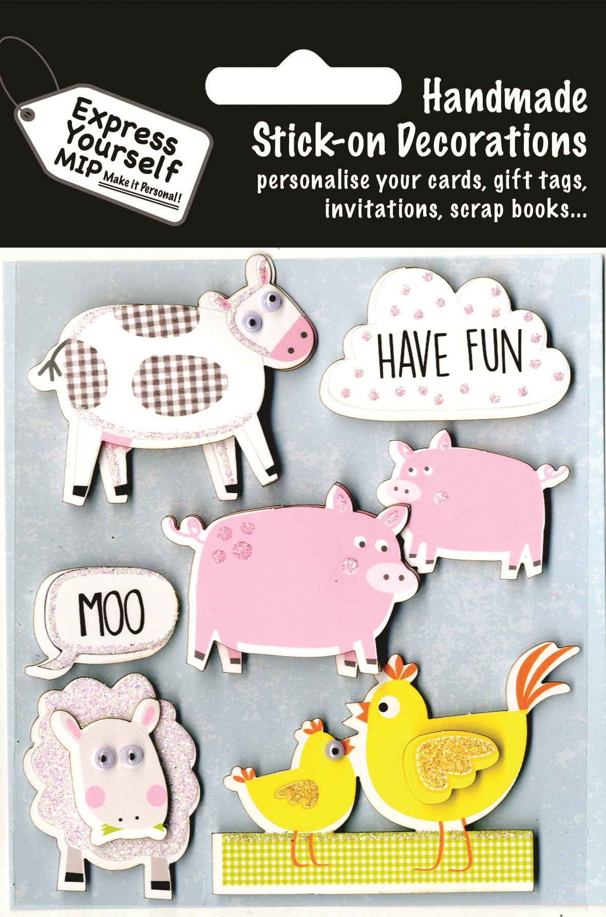 Farm Animals DIY Greeting Card Toppers