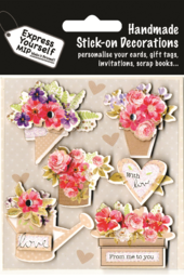 Flowers & Bouquets DIY Greeting Card Toppers
