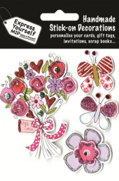 Flowers & Butterflies DIY Greeting Card Toppers