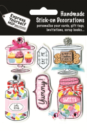 Jars Of Sweets DIY Greeting Card Toppers