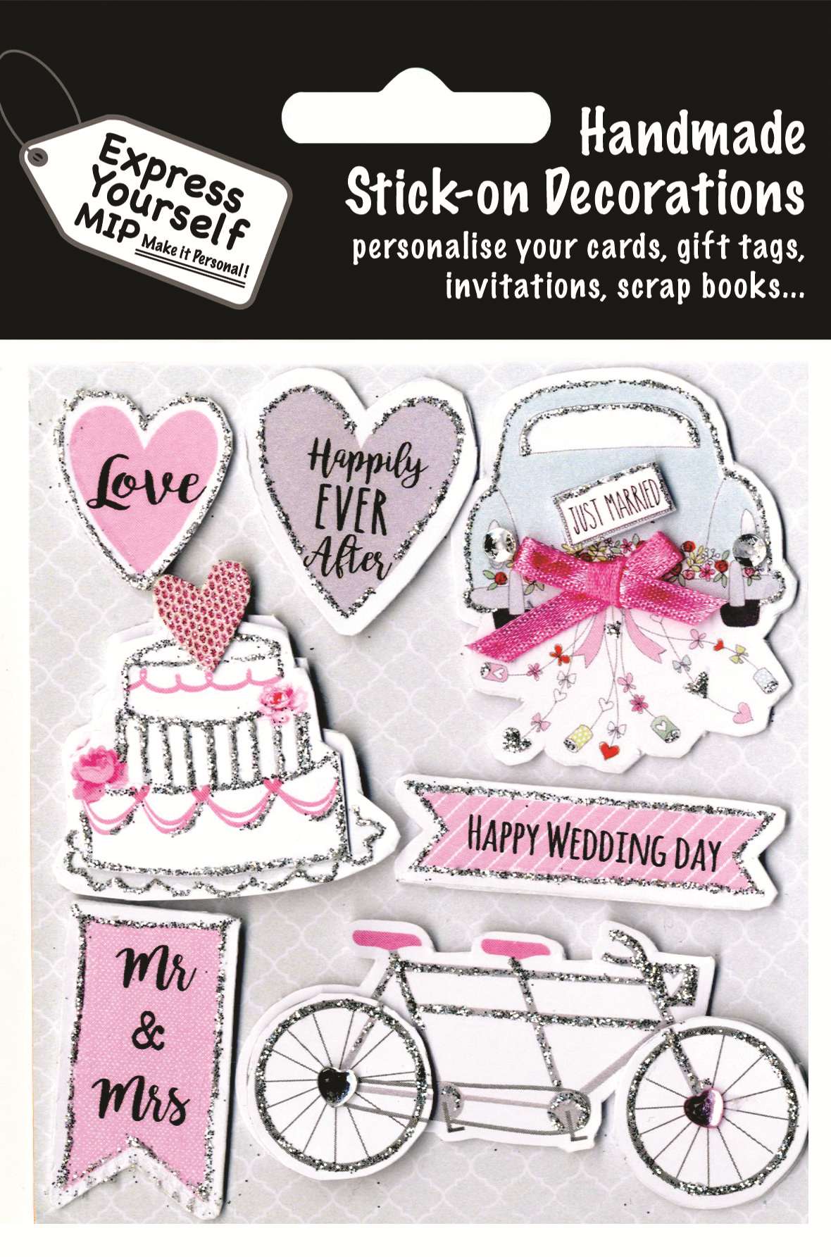 Wedding Day Just Married DIY Greeting Card Toppers   Gift ...