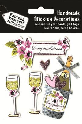 Champagne Congratulations DIY Greeting Card Toppers
