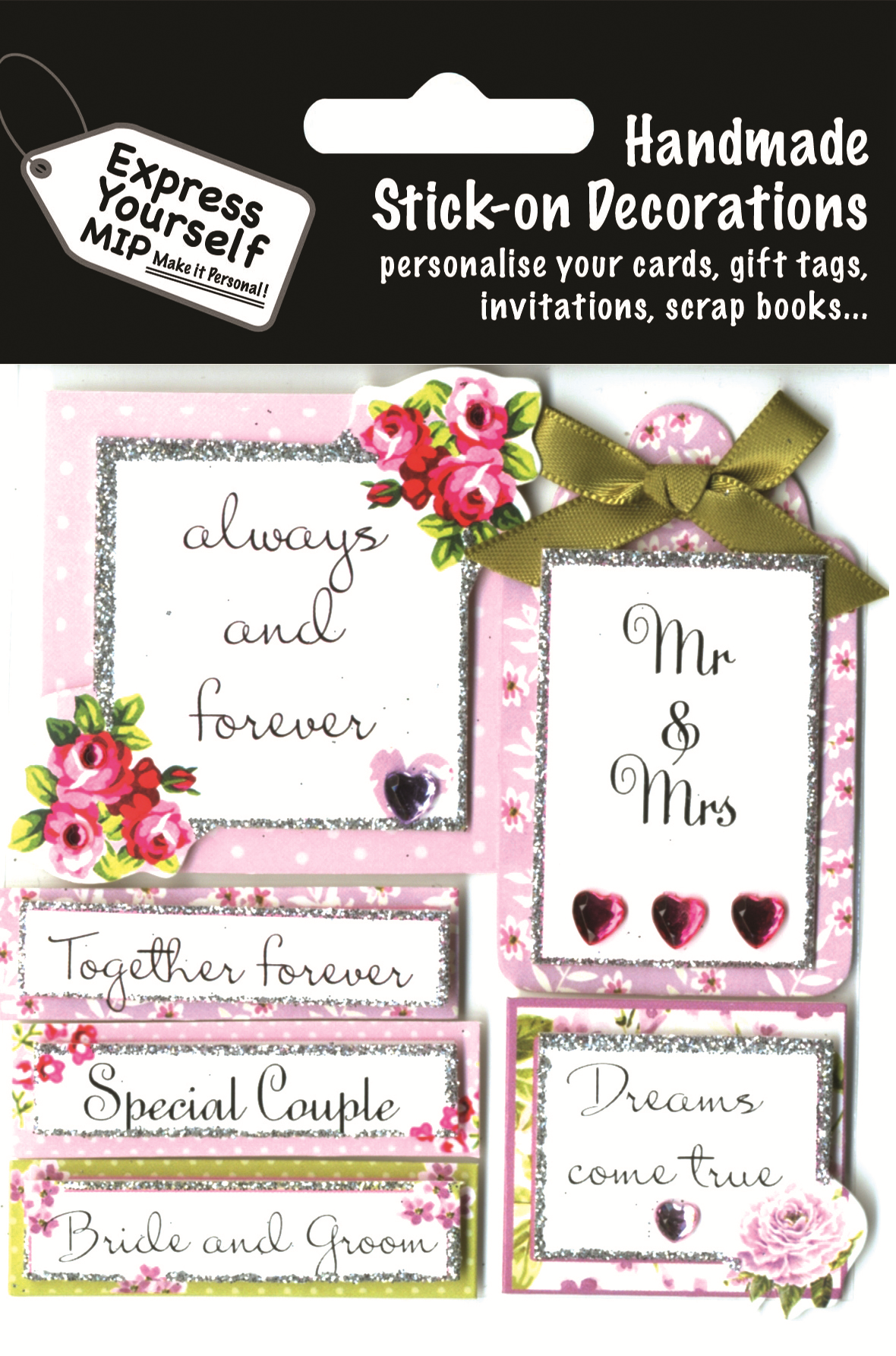 Wedding Day Captions Diy Greeting Card Toppers Gift Accessories