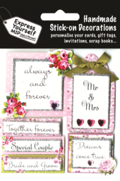 Wedding Day Captions DIY Greeting Card Toppers