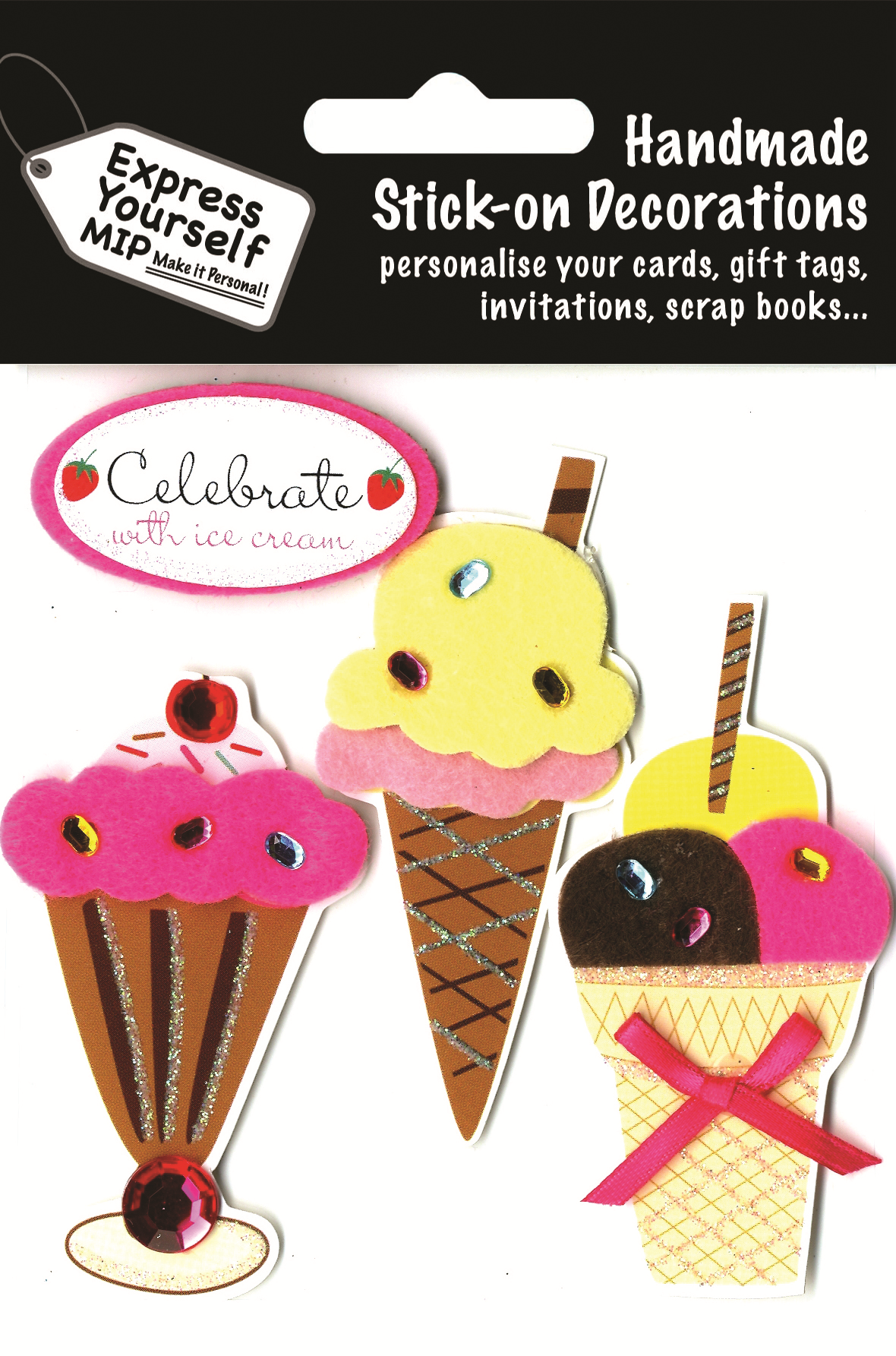 Ice Creams Diy Greeting Card Toppers Gift Accessories Love Kates