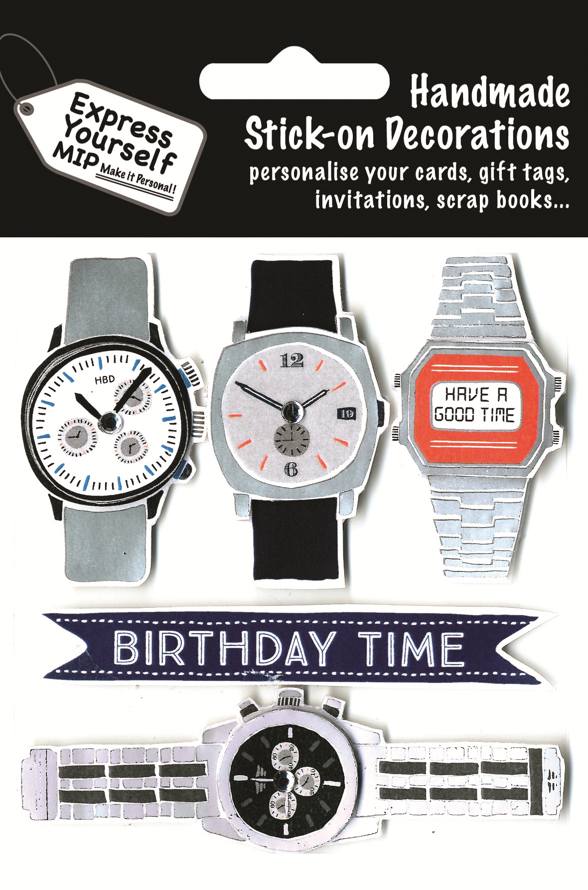 Silver 40th Birthday DIY Greeting Card Toppers Personalise Handmade Cards