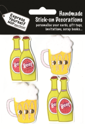 Beer Bottles & Glasses DIY Greeting Card Toppers