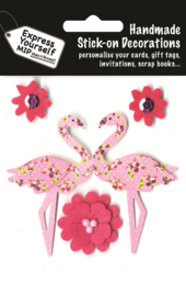Pink Flamingos DIY Greeting Card Toppers