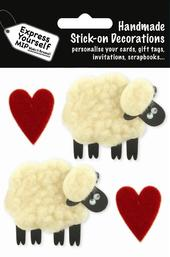 Sheep & Hearts DIY Greeting Card Toppers