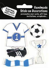 Football Themed DIY Greeting Card Toppers