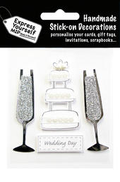 Wedding Day Cake DIY Greeting Card Toppers