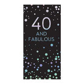 40th Birthday Celebrate In Style Chocolate Bar & Card In One