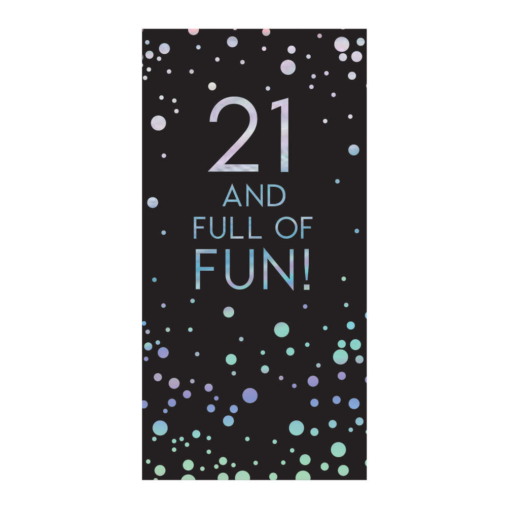 21st Birthday Celebrate In Style Chocolate Bar & Card In One