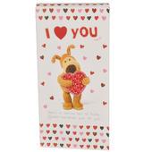I Love (Heart) You Boofle Chocolate Bar & Card In One
