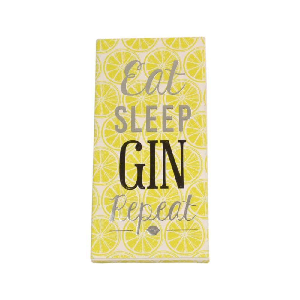 Eat Sleep Gin Repeat Chocolate Bar & Card In One
