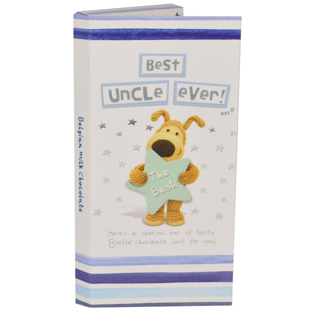Best Uncle Ever Boofle Chocolate Bar & Card In One