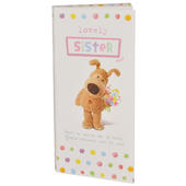 Lovely Sister Boofle Chocolate Bar & Card In One