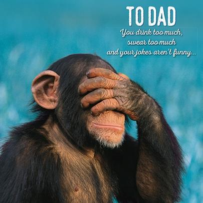 Jokes Not Funny Happy Father's Day Greeting Card