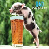 Pint & Piglet Happy Father's Day Greeting Card