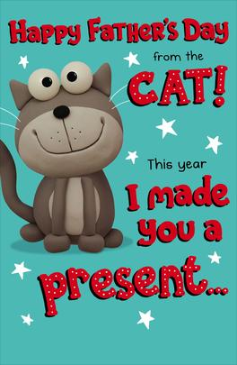 To Dad From The Cat Happy Father's Day Card