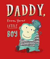 Daddy From Little Boy Father's Day Card